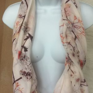 H&M wrap infinity flower blossom scarf